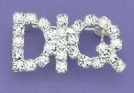PA22: DIQ Austrian Crystal Pin in Clear or Pink