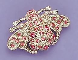 PA238P: Pink Crystal Bee Pin