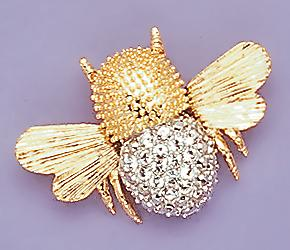 PA260: Crystal Queen Bee Pin
