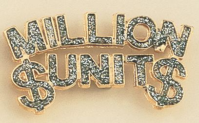PA302: Million Dollar Unit Diamond Dust Gold Pin