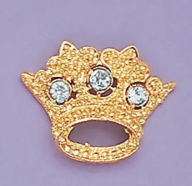 PA318: Jeweled Crown Pins, various colors
