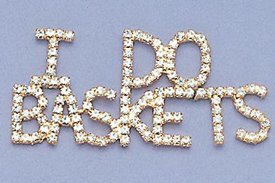 PA322: I Do Baskets Crystal Pin