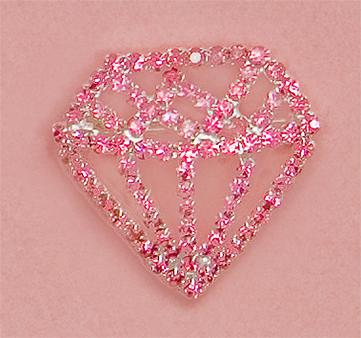 PA427P: Crystal Pink Diamond Pin