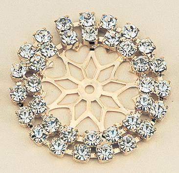 PA50B: Double Row Crystal Enhancer in Gold or Silver