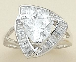 RA70B: Triangular CZ Ring