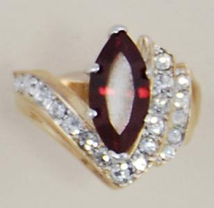 RA92: Ruby & Crystal Ring