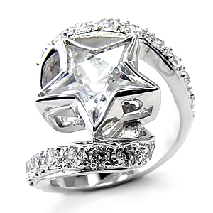 RA109S: CZ Crystal Star Ring