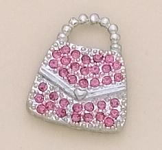 TA30: Gold Purse Tac with Pink Austrian Crystals
