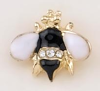 TA401: Black, Light Pink & Crystal Bee Tack
