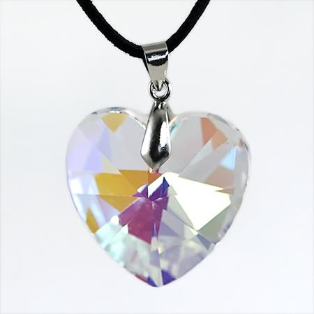 NA211: Crystal Heart Necklace