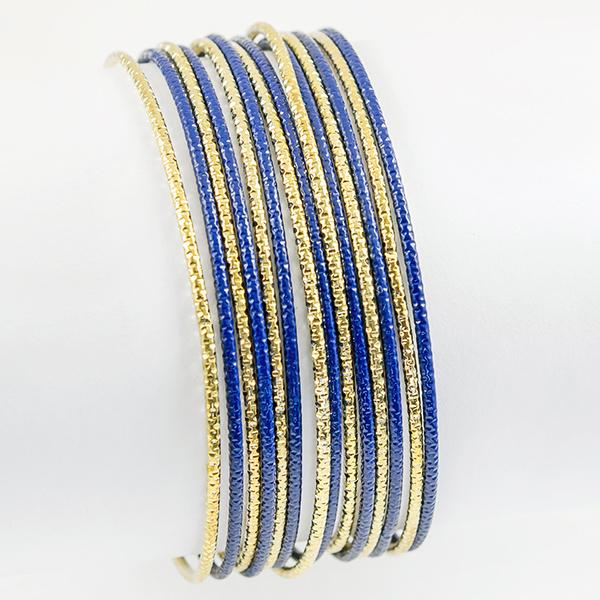BR347: Sapphire and Gold Bangles