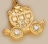 CH145: Coach Charm with Crystals in Gold or Silver