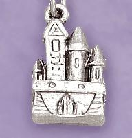 CH246: Castle Charm in Silver or Gold