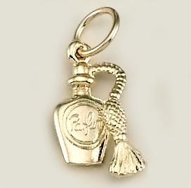 CH192: Perfume Bottle Charm, in Gold or Silver