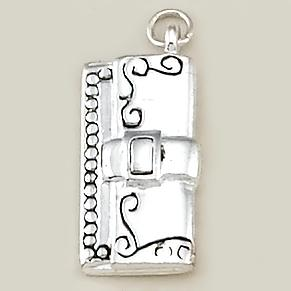 CH203: Purse Charm in Silver or Gold