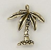 CH207: Palm Tree Charm in Gold or Silver