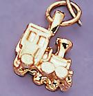 CH45: Train Charm in Gold or Silver