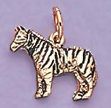CH92: Zebra Charm in Silver or Gold