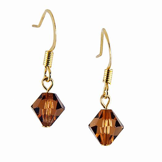 EA425A: Topaz Crystal Earrings