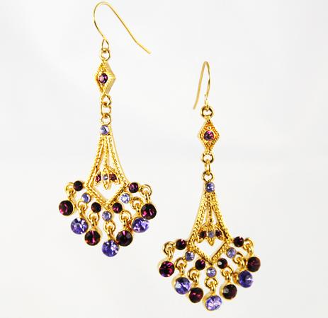 EA461: Amethyst Chandelier Earrings