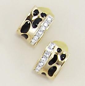 EA464: Crystal Animal Print Earrings