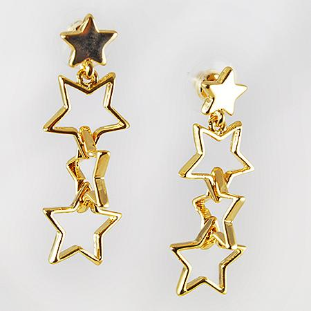 EA500: Multi-Star Earrings in Gold or Silver