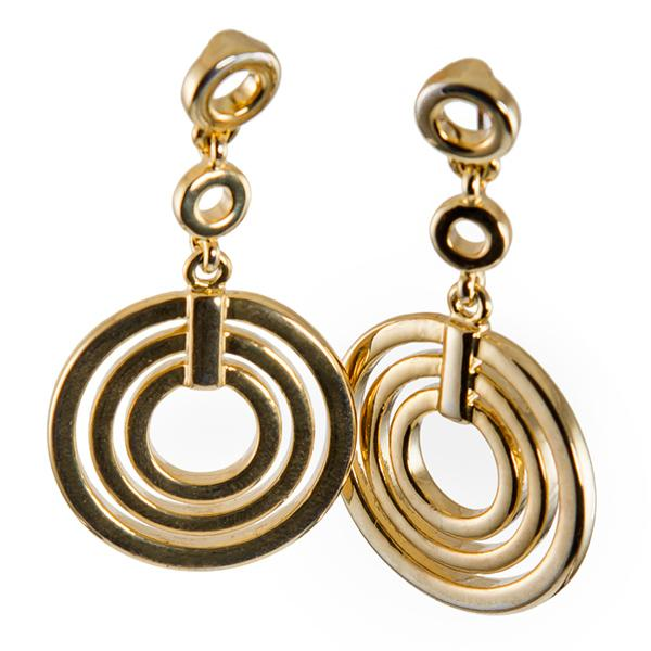 EA611: Golden Circle of Excellence Earrings