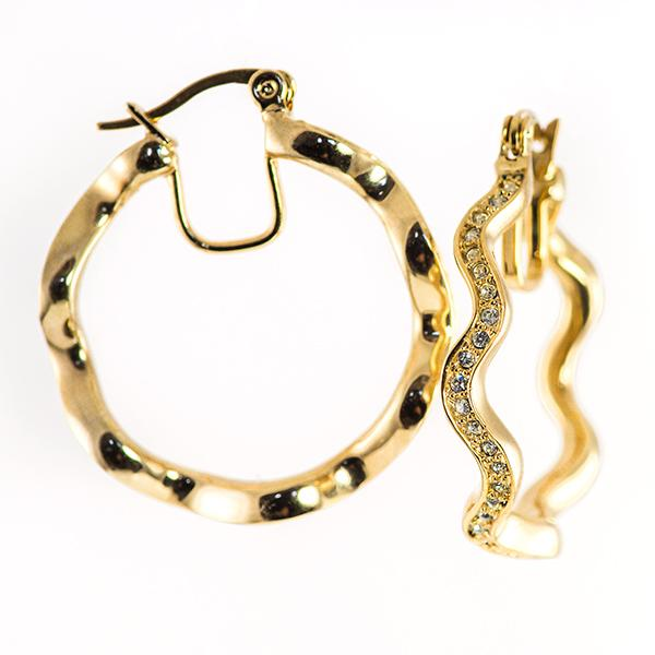 EA619: Crystal Hoops