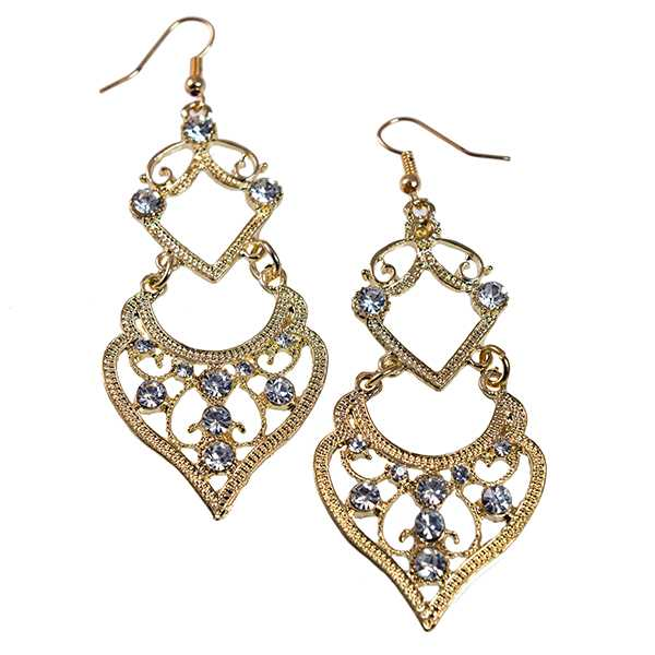EA727: Elegant Filigree Heart Inspired Earrings