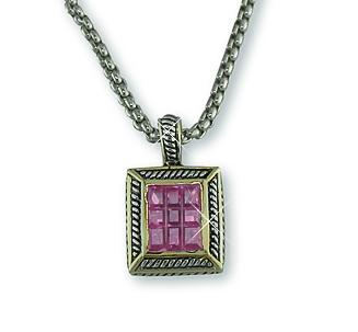 NA190: Yurmanesque Pink CZ Necklace