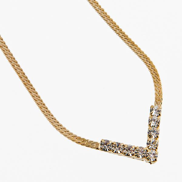 NA228: Gold Austrian Crystal Necklace