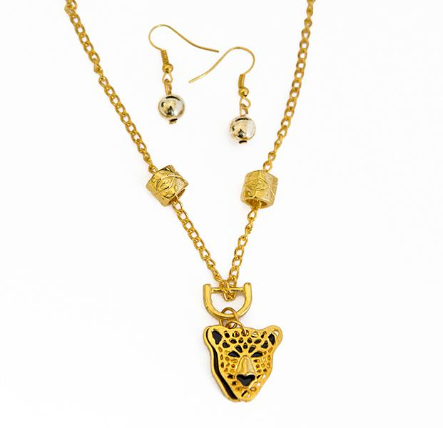 NA261: Exotic Tiger / Leopard Necklace