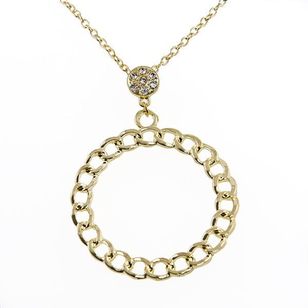 NA266: Gold or Silver Circle of Excellence Necklace