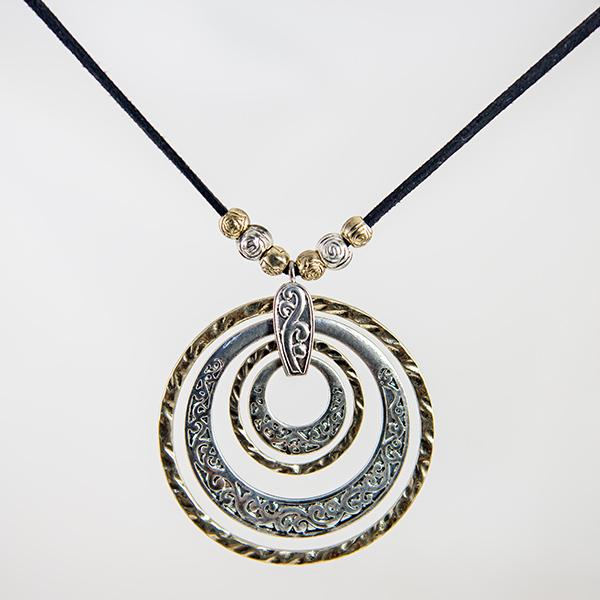 NA288: Exotic Two Tone Necklace