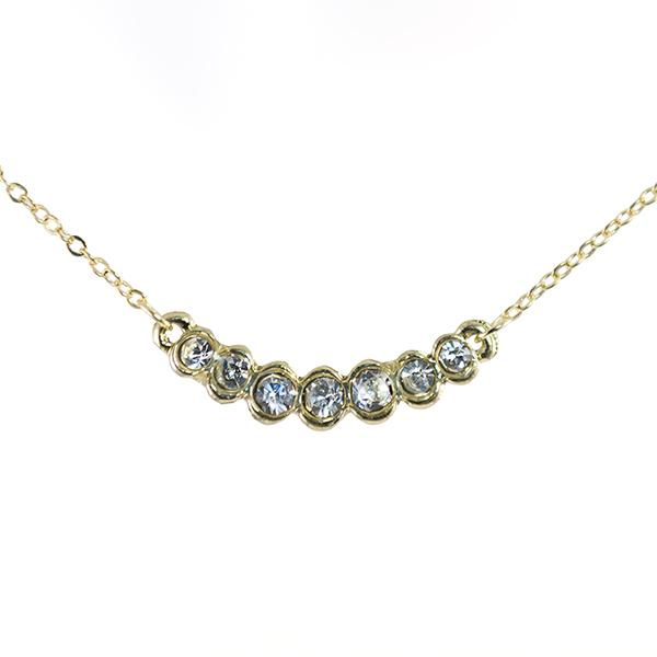 SN294: Delicate Crystal Necklace