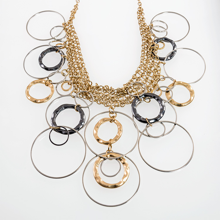 SN295: Exotic Two Tone Necklace