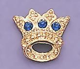 TA119B: Blue Crystal Crown Tack Pin